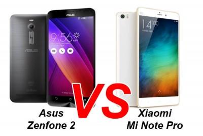 Adu Spesifikasi: Asus Zenfone 2 vs Xiaomi Mi NotePro